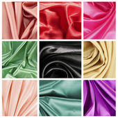 Beautiful silk drape collage — Stock Photo