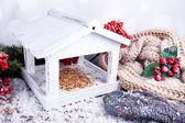 гнездо ручной работы зимой — Стоковое фото