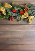 Beautiful Christmas border — Stock Photo