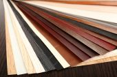 Color palette for furniture on table close-up — Stock Photo