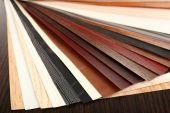 Farbpalette für möbel mit tabelle nahaufnahme — Stockfoto