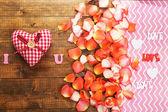 バレンタインの日はクローズ アップの美しいロマンチックな背景 — ストック写真