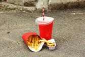 Fast food litter — Stock Photo