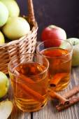 Still life with apple cider — Stock Photo