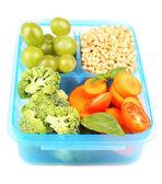 Tasty vegetarian food — Stock Photo