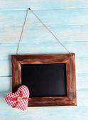 Quadro vintage em fundo de madeira — Fotografia Stock