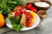 Prepared stuffed peppers — Stock Photo