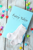 Fairy tales on wooden table, close-up — Stock Photo