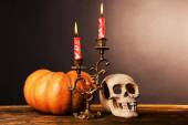 Bloody candles for Halloween — Stock Photo