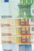 Colorful Euro banknotes — Stock Photo