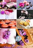Collage de spa — Foto de Stock