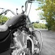Motorcycle detail with gasoline tank Chrome motorcycle details close-up — Stock Photo #56526909
