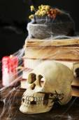 Frightful still life for Halloween — Stock Photo