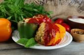 Prepared stuffed peppers — Stock Photo