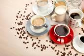Café fresco com vários ingredientes — Fotografia Stock