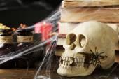 Frightful still life for Halloween — Stock Photo
