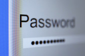 Password on monitor screen — Stock Photo