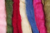 Multicolored wool for felting close up — Stock Photo