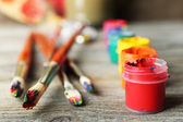 Beautiful still life with art materials — Stock Photo