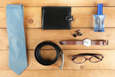 Essentials fashion man objects — Stock Photo