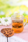 Cup of tea on table — Stock Photo