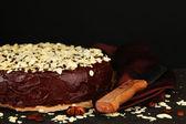 Chocolate cake with almond — Stockfoto