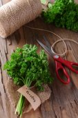 Parsley on table close-up — Stock Photo