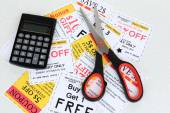 Set of cut coupons for shopping — Stock fotografie