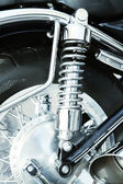 Motorcycle shock absorber, close-up — Stock Photo