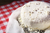 Cottage cheese on gauze — Stock Photo