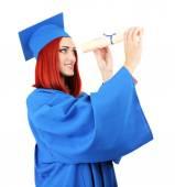 Studente laureato donna — Foto Stock