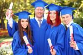 Graduate students — Stock Photo