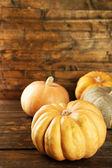 Ripe different pumpkins — Stock Photo