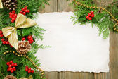 Christmas decoration with paper shit — Stock Photo