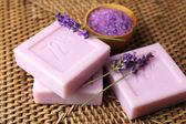 Bars of natural soap — Stock Photo
