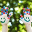Smiling colorful hands — Stock Photo #56882683