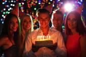 Birthday party in club — Stock Photo