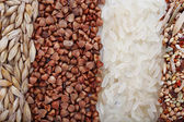 Groats mixture as background — Stock Photo