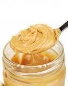 Creamy peanut butter in jar — Stock Photo