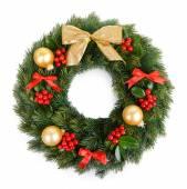 Christmas decorative wreath — Stock Photo