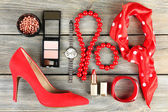 Essentials fashion woman objects — Stock Photo