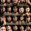 Handsome man with beard collage — Stock Photo #57014697