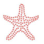 Red Starfish silhouette — Foto de Stock