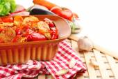 Vegetable ragout on table — Stock Photo