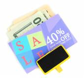 Set of cut coupons for shopping — Stock Photo
