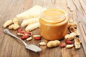 Mantequilla de cacahuete cremosa — Foto de Stock