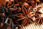 Carnation with cinnamon sticks and star anise — Stock Photo