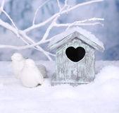 Decorative small bird house — Stock Photo