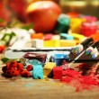 Still life with professional art materials — Stock Photo #57052651
