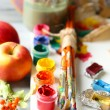 Still life with professional art materials — Stock Photo #57052679